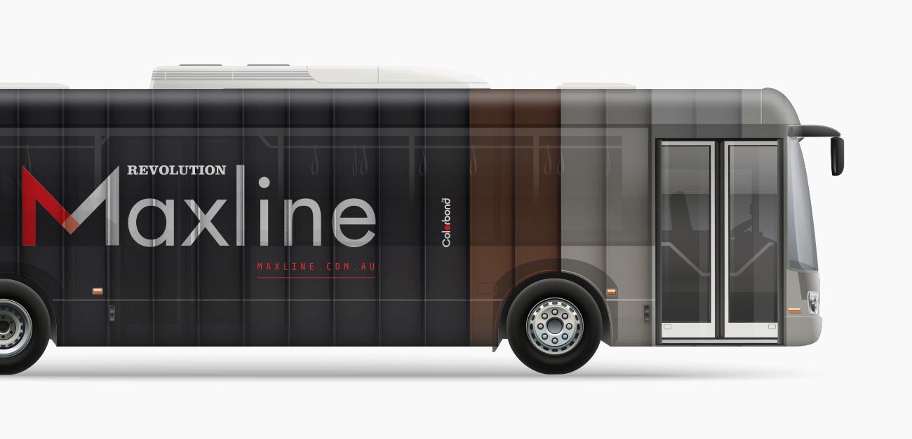 Maxine-bus-signage